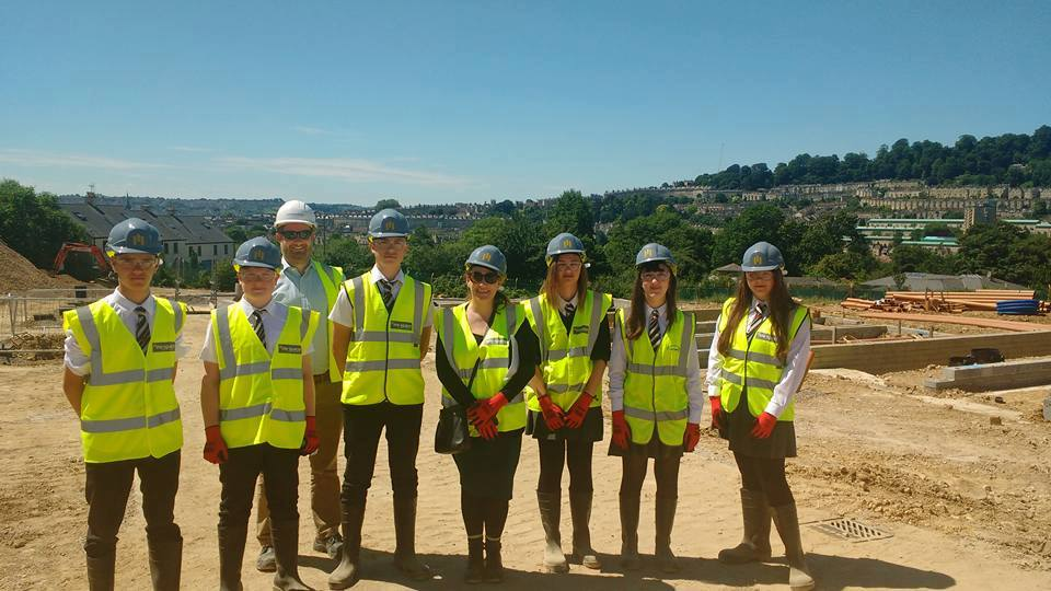 IKB students on site with Campbell Reith