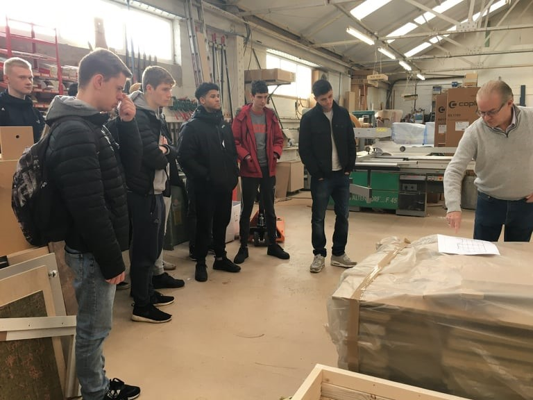 IKB students visit Beaufort Bespoke joinery company.